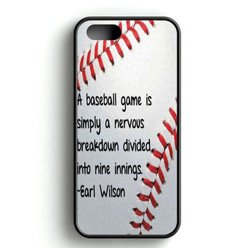 Baseball quote iPhone 4s iPhone 5s iPhone 5c iPhone SE iPhone 6|6s iPhone 6|6s Plus Case