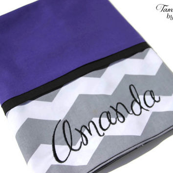 Custom Purple Pillowcase, Chevron Pillowcase, Pillow Sham, Custom Chevron, Personalized Pillcase, Pillowcase, Custom Bedding