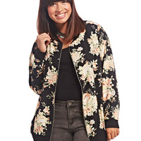 Floral Bomber Jacket | Wet Seal+