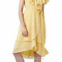 Polka-Dot Flutter Chiffon Day Dresses by Adrianna Papell