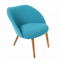 Vintage Scoop Chair in Teal