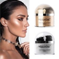 Miss Rose Highlighter Makeup 2 In 1 Single Color Loose Powder & Eyeshadow Glitter Gold Silver Eye Shadow Palette Make Up Kit