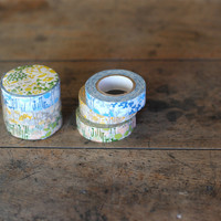 Masking Tape - Classiky, Little Garden, 15mm x 15m, Set of 3 Rolls