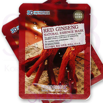 Foodaholic 3D Red Ginseng Natural Essence Mask  *exp.date 03/18*