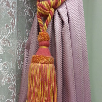 Curtain Accessories - Macrame Curtain Accessories - Red Macrame - F705