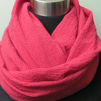 Bright, Rich Pink Infinity Scarf