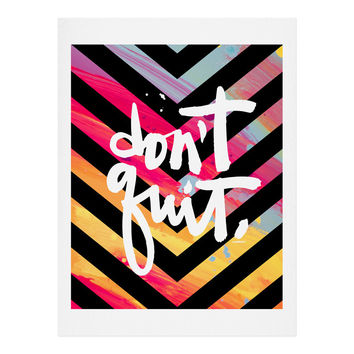 Kal Barteski DONT QUIT chevron Art Print