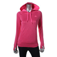 Adidas Womens Fleece Contrast Trim Hoodie