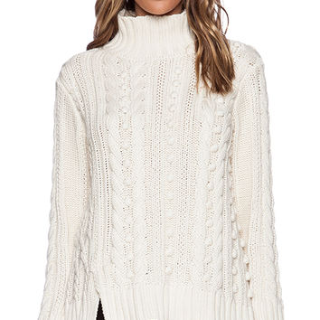525 america Popcorn Sweater in Ivory