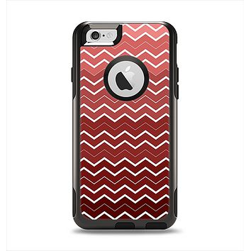 The Red Gradient Layered Chevron Apple iPhone 6 Otterbox Commuter Case Skin Set