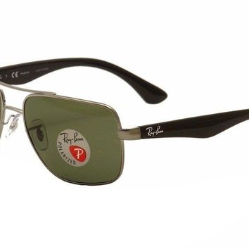 Ray Ban RB3483 RB/3483 RayBan 004/58 Gunmetal Polarized Pilot Sunglasses 60mm