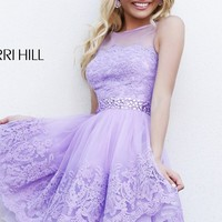 Short High Neck Dress by Sherri Hill