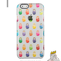 Russian Doll iPhone5 Clear Case  iPhone6 Clear Case Cute Clear iPhone 5s Transparent Case Matryoshka iPhone 5s Case Samsung S7 Edge  Case