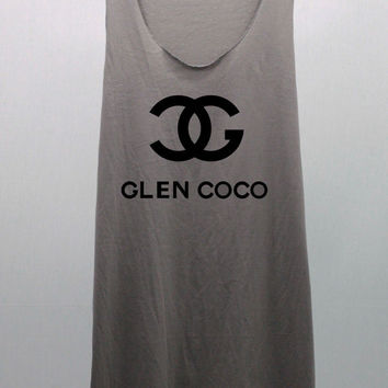 GLEN COCO  Tank Top woman handmade silk screen printing