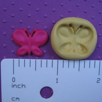 BUTTERFLY  bug    FLEXIBLE silicone food safe mold         resin fondant embed wax mold