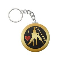 I LOVE BALLROOM KEY CHAIN from Zazzle.com