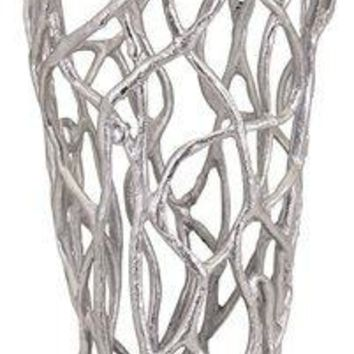 TY Outer Banks Abstract Coral Aluminum Vase