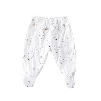 Trendy Baby Toddler Girls Boys Kids clothes Cotton Pants Geometry casual High Waist Newborn Stretchy Trousers one pieces