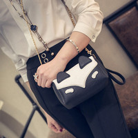 Women Cute Bags Cartoon Animal Chain Shoulder Bags Crossbody Bags