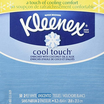 Kleenex Cool Touch Facial Tissue (One Box of 50 Tissues)