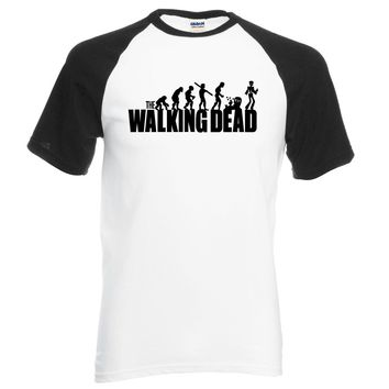 For Fans The Walking Dead men t shirt 2018 new summer 100% cotton high quality raglan t-shirt hipster men fashion brand clothing
