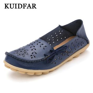 KUIDFAR 2017 women flats hollow out comfortable loafers Slip on Ballet Flats women shoes female casual shoes chaussure femme 346