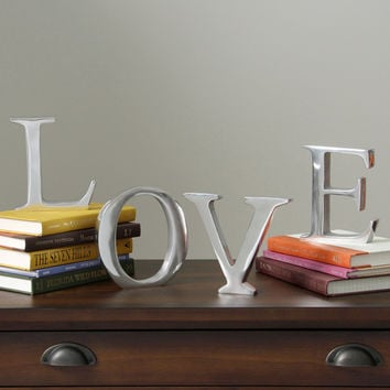 Solid Aluminum 6-inch Decorating Letter | Overstock.com Shopping - The Best Deals on Accent Pieces