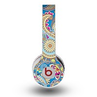 The Blue & Pink Layered Paisley Pattern V3 Skin for the Original Beats by Dre Wireless Headphones