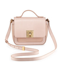 Fendi Mini Borsa Leather Crossbody Bag, Light Pink