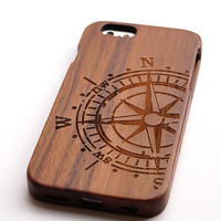 Compass Wood iPhone 6 Case wood iPhone 6 Case iPhone5 5s Case iPhone 6 Plus iPhone 5c Case iPhone 4 Case Samsung Galaxy S6 Case note3/4 Case