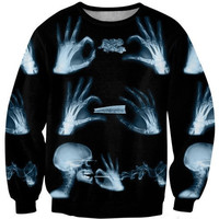 Latest fashion fads Lovers clothes print Smoking Skull casual Sweatshirts long sleeved loose Sweatshirt casual hoodie G193 = 1932039108