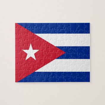 Puzzle with Flag of Cuba