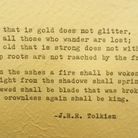J.R.R. Tolkien Poem Hand Typed Quote with Vintage Typewriter