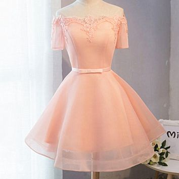Fashion Sexy off shoulder show thin lace splicing dress