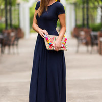 The Take Off Maxi Dress, Navy