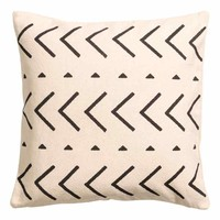 Cotton canvas cushion cover - Anthracite grey/Patterned - Home All | H&M GB