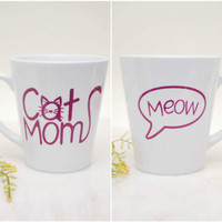 Cat Mom, Funny Cat Mugs, Cat Lady Mug, Cat Mug, Funny Mugs, Coffee Mug, Cat Mom Mug, Cat Coffee Mugs, Fur Mama, Cat Mugs Gifts, Cat Mom Mug