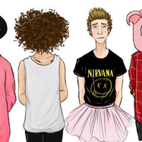 5SOS Stretched Canvas by girlwiththetea | Society6