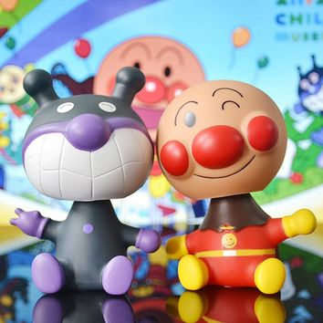 Dashboard Toy Car Ornament Auto Decoration Bobble Head Toy Auto Nodding Inside Crafts Shaking Head Anime Baikinman Anpanman Doll