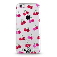 Pinkish Cherries Clear Case