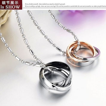 Fashion Punk Superman crystal Jewelry Necklace titanium steel lover gift christmas gift = 1705113732