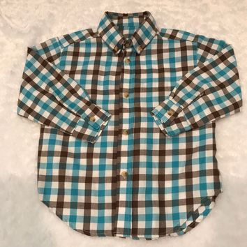Kelly Kids Flannel Button Down Shirt