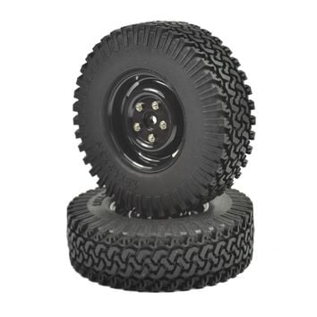 "2PCS 1/10 Crawler Tire Set 1.9"" With Foam Insert for RC Crawlers 1/10 RC Crawler 1.9"" 98MM Tire&Plastic Wheel Spare Wheels"