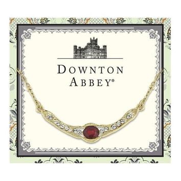 Downton Abbey Gold-Tone Red Crystal Petite Collar Necklace