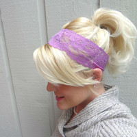 Orchid stretch lace headband romantic/feminine/classic