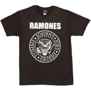 Ramones Men's  Seal Logo Active Tee Active Wear Black