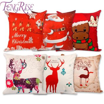 FENGRISE Merry Christmas Decor for Home Christmas Ornament Christmas Xmas Decor Pillow Case Party Decor New Year 2019