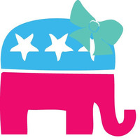 5in Cute Republican Car Decal