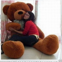 "HOT !100% HUGE SOFT NEW GIANT BIG PLUSH ""dark brown ""TEDDY BEAR 120cm"