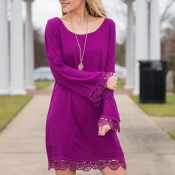 The Best Intentions Dress, Magenta